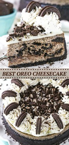 The Best Oreo Cheesecake Recipe, Cookies And Cream Cheesecake, Cheesecake With Oreo Crust, Birthday Cheesecake, Chocolate Belga, Chocolate Ganache, White Chocolate, Chocolate Deserts, Chocolate Blanco