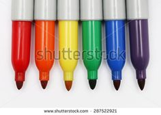 Permanent Markers   - stock photo