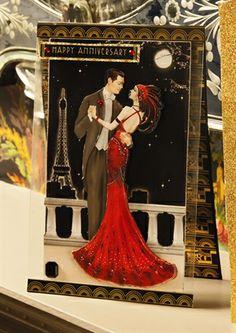 Art Deco Anniversary Card by: katygodbeer