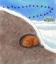 Karhu talviunilla