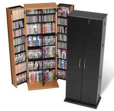 Large DVD Storage Cabinet | DVD Cabinet | Pinterest | Dvd storage ...