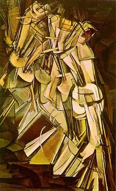 Marcel Duchamp Nude Descending a Staircase -- saw this at the pompidou center. Very cool!