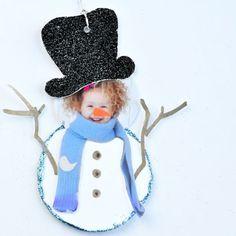 Photo Snowman Gift Tag