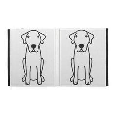 Anatolian Shepherd Dog Cartoon iPad Folio Cases