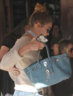 Gigi Hadid Has Suddenly and Enthusiastically Joined the Hermès Birkin Fan Club - handbags Hermes Birkin, Birkin 25, Hermes Bags, Hermes Handbags, Fashion Handbags, Fashion Bags, Birkin Bags, Hermes Kelly Bag, Gucci