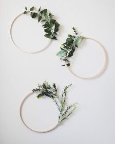 Easy diy boxwood and eucalyptus wreaths, add a little greenery to your home, greenery wreaths, easy diy eucalyptus wreaths, embroidery hoop wreaths, gold circle wreath, asymmetrical wreath, boho nursery, wedding decor, boxwood wreaths