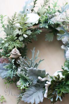 Wreath of Sea Forest 海の森のリース 貝殻 / 珊瑚 / shell / wedding / seaweeds / coral