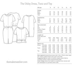 The Utility Dress, Tunic and Top - The Foldline Clothing Patterns, Sewing Patterns, Dressmaking, Printed Cotton, Tunic, Dress Sewing, Craft Ideas, Women's Fashion, Detail