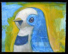 Sketchy crested bird by-Brett Superstar