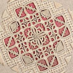 This is beautiful. Hardanger Embroidery, Hand Embroidery Stitches, Lace Embroidery, Embroidery Techniques, Cross Stitch Embroidery, Embroidery Patterns, Bead Loom Patterns, Tatting Patterns, Crochet Patterns