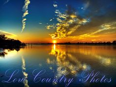 Sunset on the Intercoastal Waterway - Pawleys Island, SC The Watermark will not show on printed images