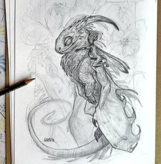 Saturday sketch fot the challenge day 💪🐉✏️ Dragon Art, Fantasy Creatures, Traditional Art, Art Drawings, Challenges, Birds, Day, School Ideas, Illustration