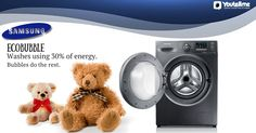 There's less chill in the air. Time to give your dear Teddy a good wash! Here's a tip - use a gentle laundry detergent and wash on the gentle cycle. #WashingMachine #SamsungWashingMachine #SamsungElectronics #AutomaticWashingMachine #Dryers #HomeAppliances #Teddy