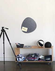 Pebble Pinboard, Small in Charcoal Wall Spaces, All Design, Charcoal, Whiteboard, Wood, Fiber, Decals, Strong, Shapes