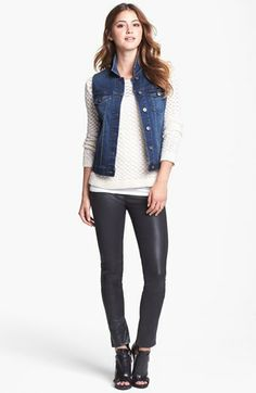 Two by Vince Camuto Vintage Wash Denim Vest (Regular & Petite) available at #Nordstrom