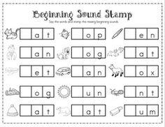 Mrs. Ricca's Kindergarten: Literacy Center Freebie... Sound stamps