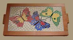 Barbara Neilson Mosaicos Mosaic Tray, Mosaic Tiles, Butterfly Mosaic, Mosaic Portrait, Mosaic Madness, Baubles And Beads, Interior Concept, Mosaic Garden, Mosaic Crafts