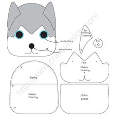 Free sewing pattern to make cute Siberian Husky inspired Puppy Key Pouch, Key Cozy, Key Holder. Template & detailed instructions includes step by step photos for easy understanding. – Page 2 of 2 Felt Patterns, Craft Patterns, Sewing Patterns Free, Free Sewing, Clothes Patterns, Sewing Hacks, Sewing Tutorials, Sewing Crafts, Sewing Tips