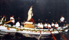 Preciosa procesión de la Virgen de El Carmen (patrona de los pescadores) el 16 de Julio. MÁLAGA