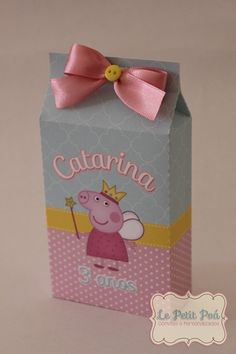 Caixa Milk - Peppa Pig | Le Petit Poá | Elo7