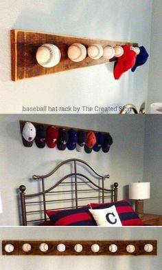 Baseball Hat Rack (directions Link On Comments)