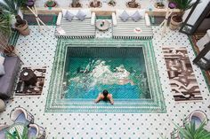 Riad Yasmine, Marrakech, Morocco - A haven of chic architectural beauty and authentic charm hidden in the heart of the red city #pool #hotel #traditional #boutique #honeymoon #travelwithkids #solotravel