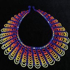 Collar de abalorios / Mandala de cuentas americano nativo /