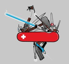The ultimate Swiss Army Knife for geeks.