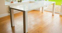 White High Gloss Fern White Gloss Extending Dining Table: Amazon.co.uk: Kitchen & Home