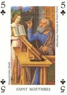 Mattheus Apostel en Evangelist..Speelkaart.