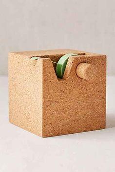 Cork Cube Tape Dispenser + Desk Organizer - Urban Outfitters