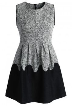 Melt Down Wool Blend Grey Dress - Retro, Indie and Unique Fashion