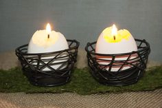Egg Shell Candles!  Use Pink Zebra sprinkles and make your own candles! Order sprinkles from www.pinkzebrahome.com/jayetta
