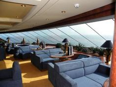 Luxury Cruisin' Italian Style - MSC Yacht Club: MSC Splendida - MSC Yacht Club Top Sail Lounge