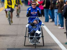Dick Hoyt.  There are no words to describe his soul.  http://abcnews.go.com/Health/team-hoyt-run-boston-marathon/story?id=23288967