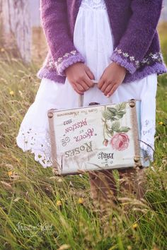 Treasures to Hold - pink roses, purple cardigan Lavender Cottage, Lavender Roses, Rose Cottage, Lavender Fields, Shades Of Purple, Green And Purple, Wisteria, Decoration, Pink