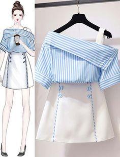 Korean Women's Fashion Ideas 1247772079 – Ruffles fashion… - Korean fashion Set Fashion, Teen Fashion Outfits, Look Fashion, Stylish Outfits, Girl Fashion, Cute Outfits, Fashion Ideas, Korea Fashion, Classy Fashion