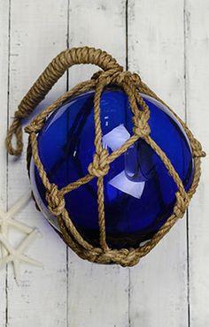 Glass Float Dark Blue 10in