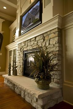 Excellent Pictures Fireplace Remodel stone Tips In case a room has a hearth, it . : Excellent Pictures Fireplace Remodel stone Tips In case a room has a hearth, it is typically the focal point of the room. Update the fireplace with Fireplace Remodel, House Design, Traditional House, Family Room, Home Fireplace, Fireplace Hearth, Home Decor Online, New Homes, Fireplace Decor