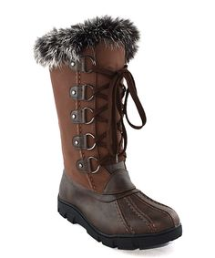 Look what I found on #zulily! Chase & Chloe Brown Faux Fur Cuff William Boot by Chase & Chloe #zulilyfinds