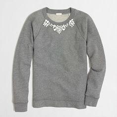J.Crew Factory Factory embellished sweatshirt on shopstyle.com