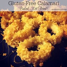 Gluten-Free Calamari Recipe by Andrea Hood. Get more gluten-free recipes at www. Calamari Recipes, Fish Recipes, Seafood Recipes, Appetizer Recipes, Snack Recipes, Cooking Recipes, Foods With Gluten, Sans Gluten, Gluten Free Recipes
