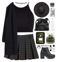 """Serenity"" by aussiegoddess ❤ liked on Polyvore featuring Ann Demeulemeester, River Island, Topshop, Witchery, Ugo Cacciatori, canvas, American Apparel and Bobbi Brown Cosmetics"