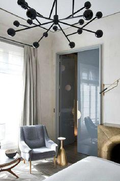 Bedroom  by Jean-Louis Denoit - great light fixture