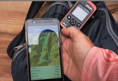 Using the inReach with my paired smartphone in a canyon in Utah