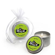 Set The Pace - Running - Personalized Track, Cross Country or Marathon Candle Tin Favors - Set of 12 | BigDotOfHappiness.com