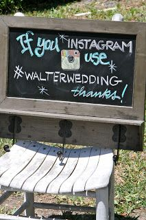 Post the hash tag at your wedding so all the photos can be seen in one spot!