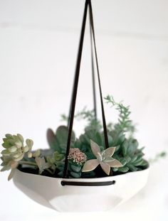 faceted hanging planter, $60, www.leifshop.com