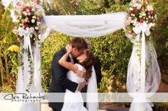 Backyard wedding arch ideas