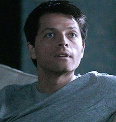 I like Misha's cute chin. <3  Oh, heck! Everything on his face is cute! ;D